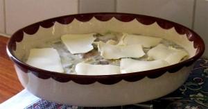 Rabarberkakan med hyvlat mattfett
